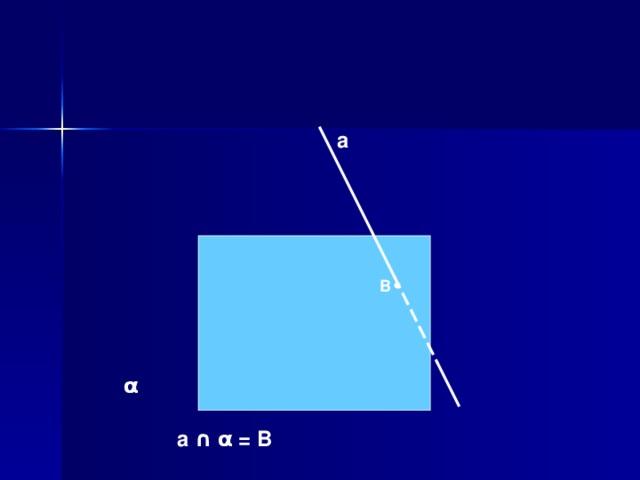 а В α а ∩  α  = В