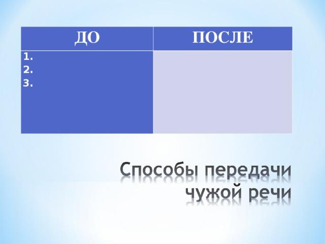 ДО ПОСЛЕ 1. 2. 3.