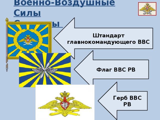 Военно-Воздушные Силы Символы Штандарт главнокомандующего ВВС Флаг ВВС РВ Герб ВВС РВ