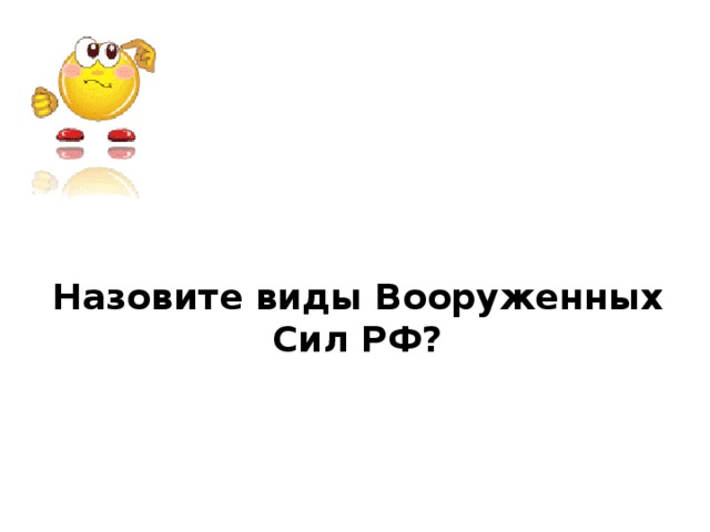 Назовите виды Вооруженных Сил РФ?