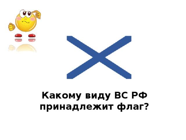 Какому виду ВС РФ принадлежит флаг?