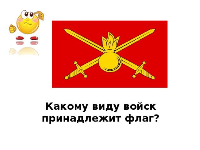 Какому виду войск принадлежит флаг?