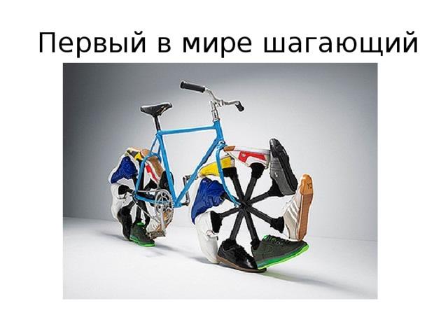 Первый в мире шагающий  В настоящее время велоиндустрия  не стоит на месте. Мы становимся свидетелями появления новейших видов велосипедов – пляжных велосипедов, зимних велосипедов, велосамокатов.
