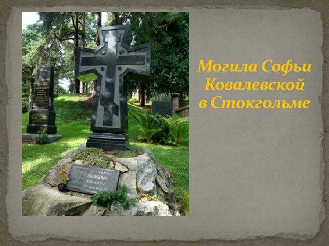29 января 1891 года Ковалевская в возрасте 41 года скончалась в Стокгольме от воспаления лёгких