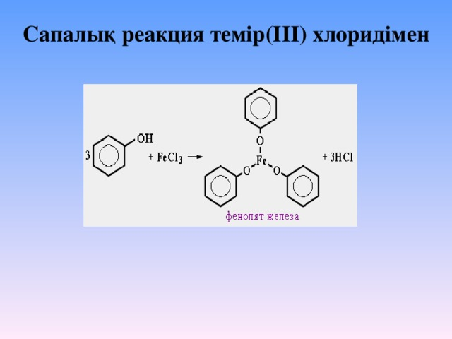 Сапалық реакция темір(III) хлоридімен