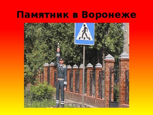 Памятник в Воронеже