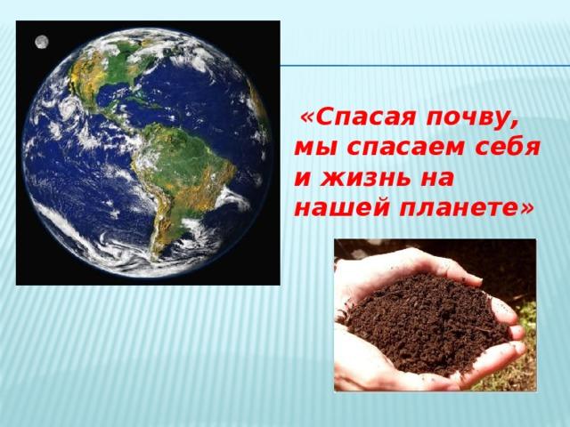 «Спасая почву, мы спасаем себя и жизнь на нашей планете»