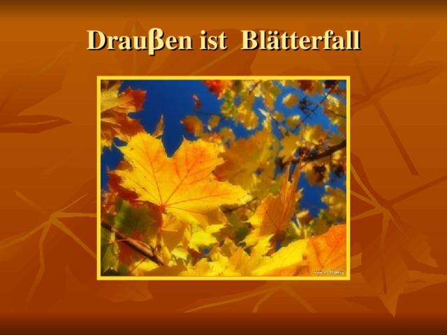 Drau β en ist Blätterfall