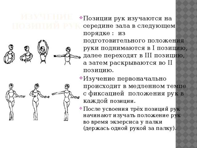Изучение позиций рук