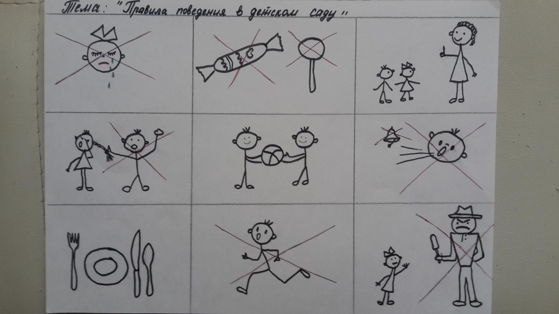 Правила поведения в группе детского сада в картинках