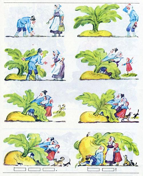 Сюжетные картинки к сказке репка для детей