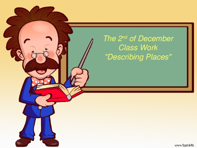 The 2 nd of December Class Work