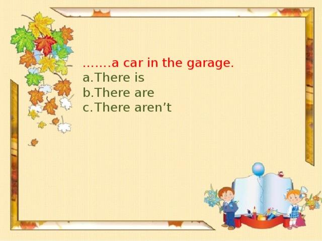 …… .a car in the garage.