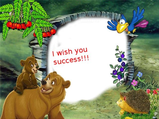 I wish you success!!!