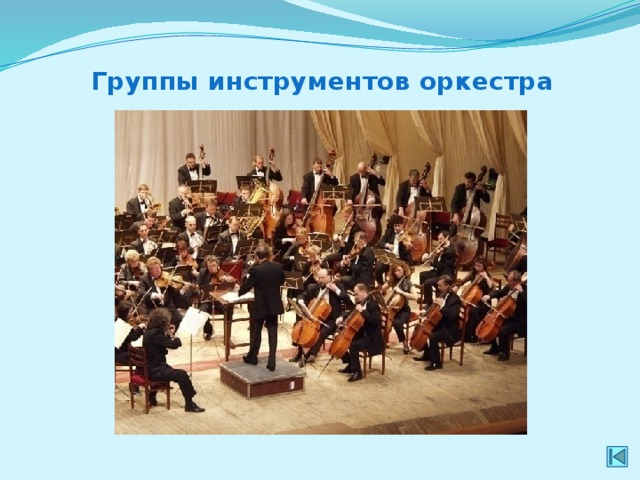 Группы инструментов оркестра