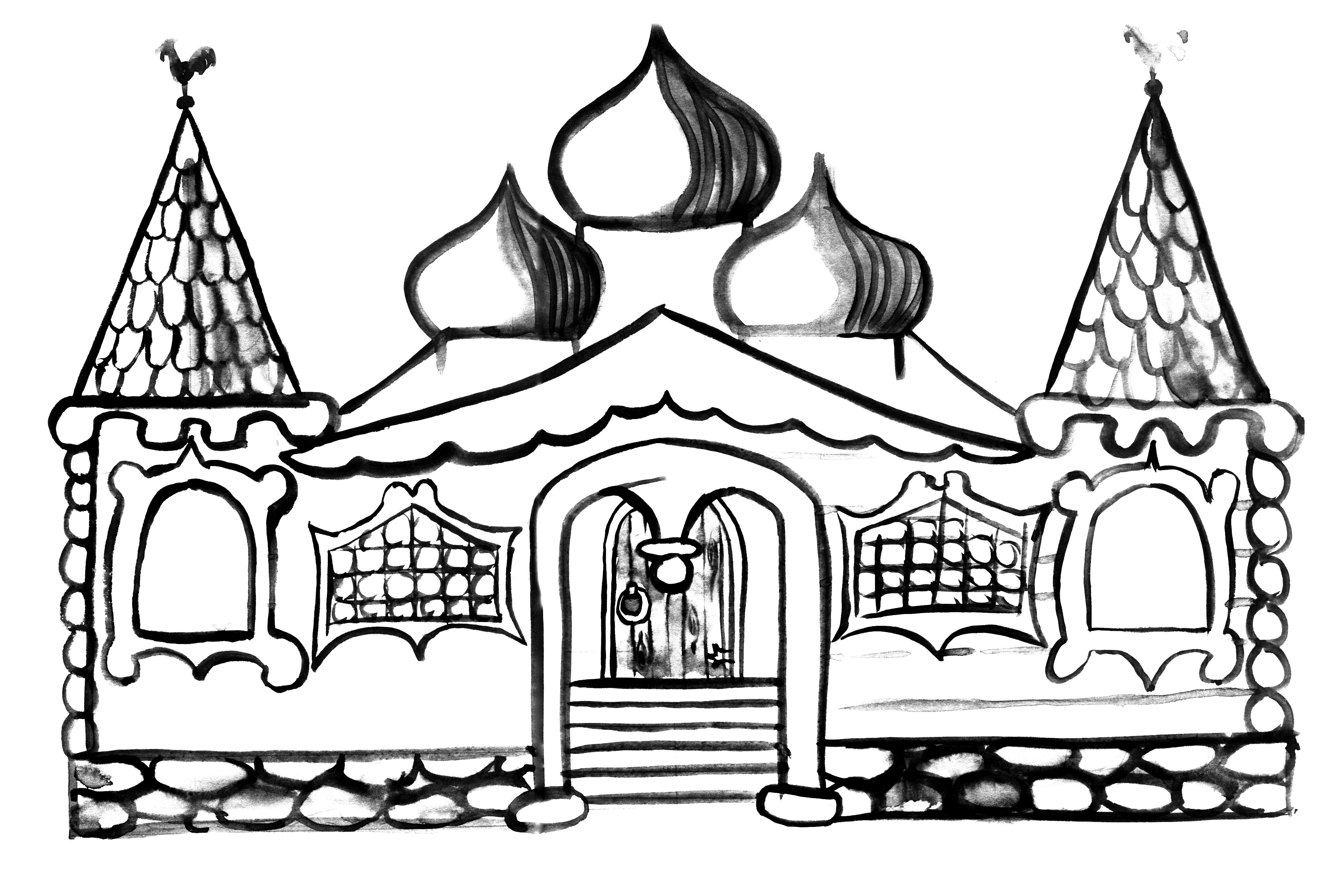 Картинки теремов нарисованных