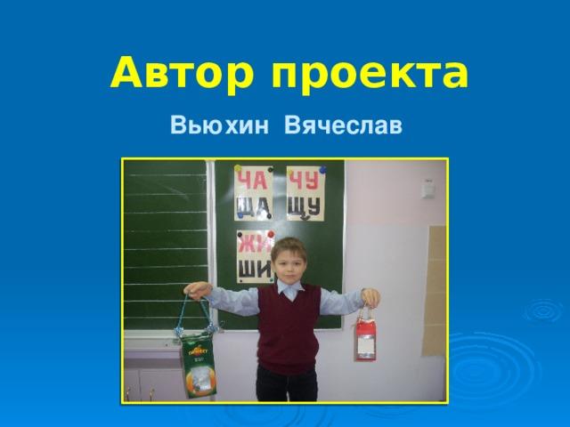 Автор проекта Вьюхин Вячеслав