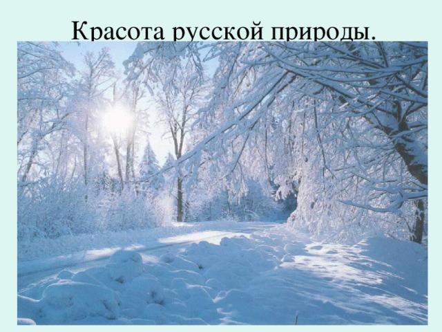 Красота русской природы.