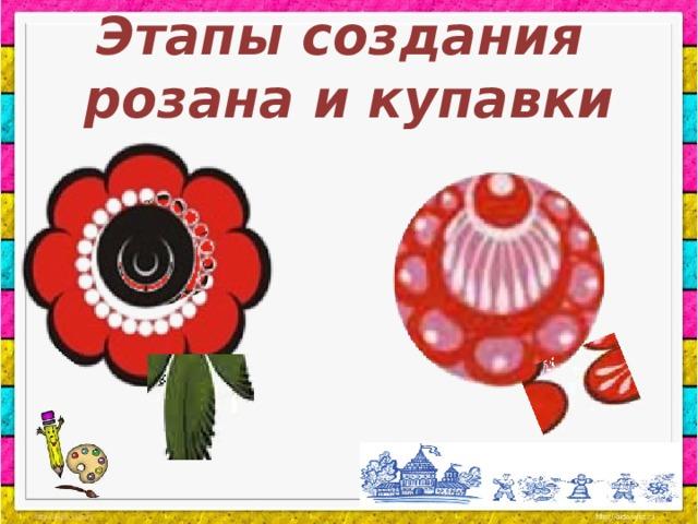 Этапы создания розана и купавки