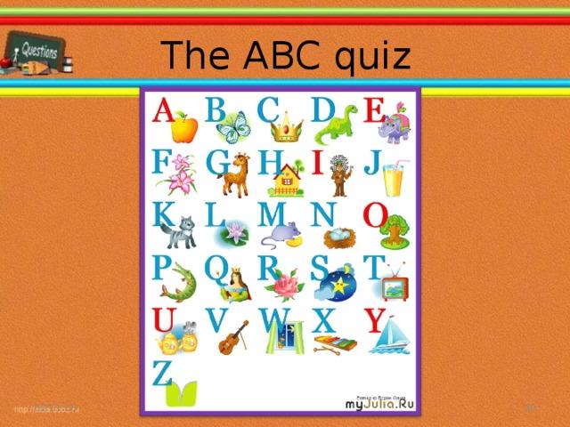The ABC quiz 02.11.16