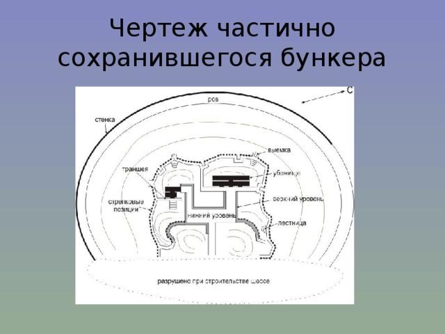 Чертеж частично сохранившегося бункера