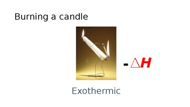 Burning a candle - Exothermic