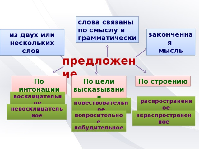 А что вы знаете о предложениях? Что бы вы рассказали о них  изучающему русский язык ?
