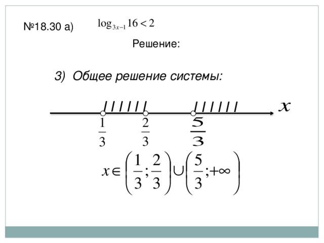 № 18.30 а) Решение: 3) Общее решение системы: I I I I I I I I I I I I