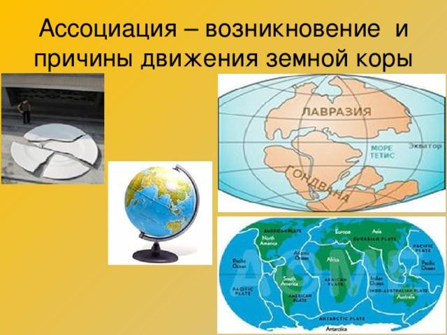 Ассоциация – возникновение и причины движения земной коры