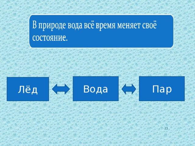 Вода Пар Лёд