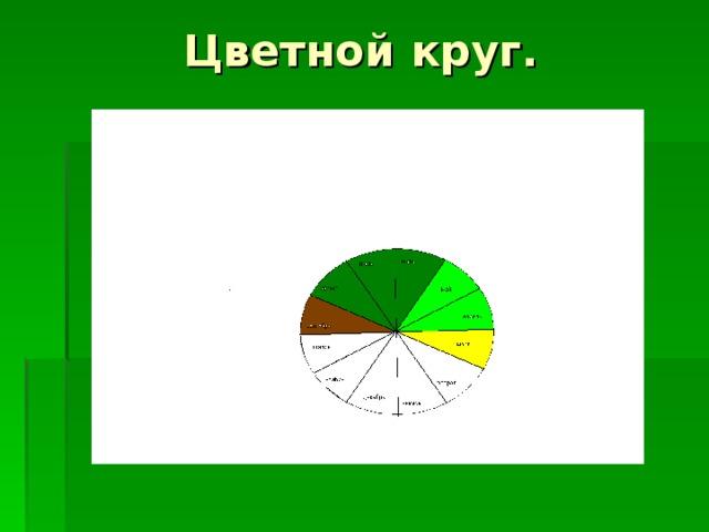 Цветной круг.