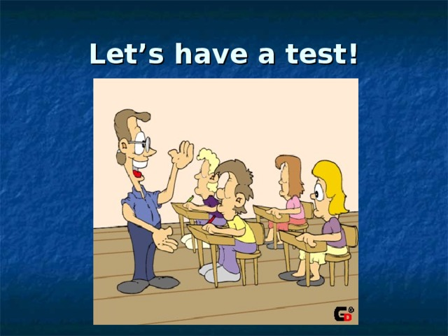 Let's have a test !