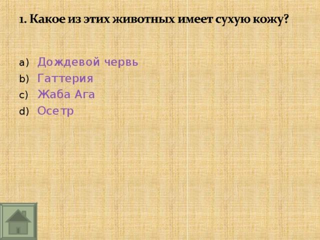 Дождевой червь Гаттерия Жаба Ага Осетр