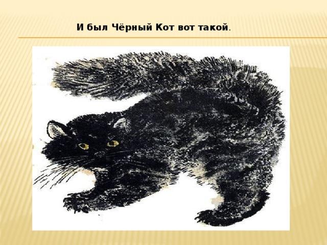 И был Чёрный Кот вот такой .