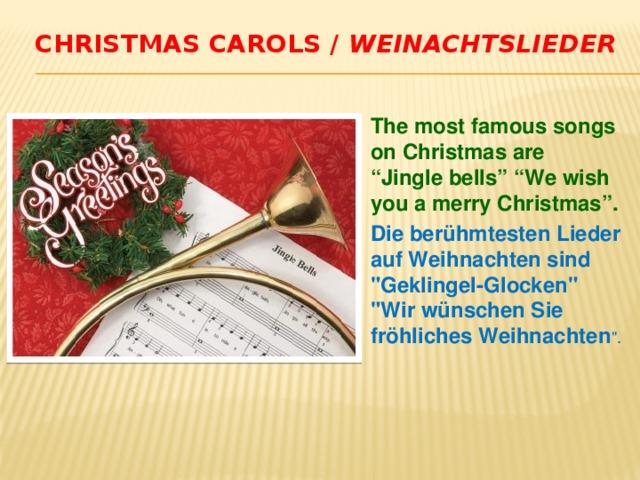 Christmas carols / Weinachtslieder