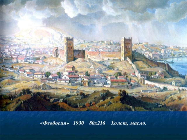 «Феодосия» 1930 80х216 Холст, масло.