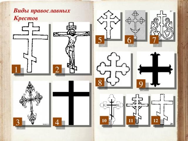 Виды православных Крестов 5 7 6 2 1 8 9 10 11 12 3 4