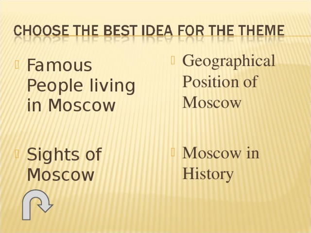 Geographical Position of Moscow  Moscow in History Famous People living in Moscow  Sights of Moscow