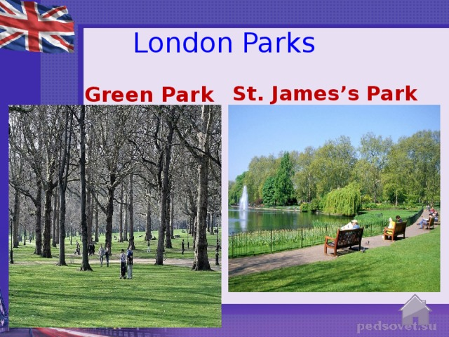 London Parks Green Park St. James's Park