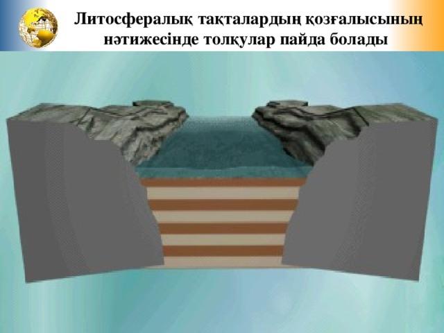 Литосфералық тақталардың қозғалысының нәтижесінде толқулар пайда болады