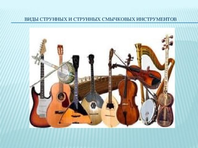 Виды струнных и струнных смычковых инструментов