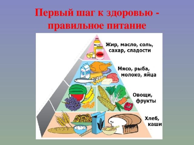 Первый шаг к здоровью - правильное питание