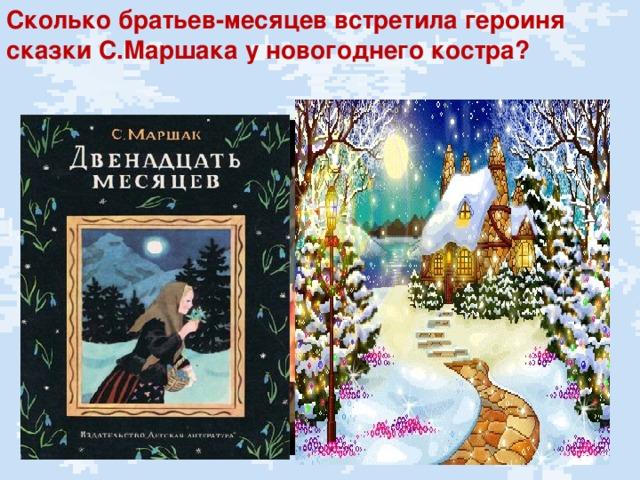 Сколько братьев-месяцев встретила героиня сказки С.Маршака у новогоднего костра?