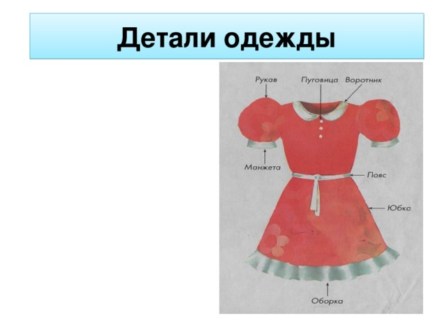 Из Каких Частей Состоит Платье