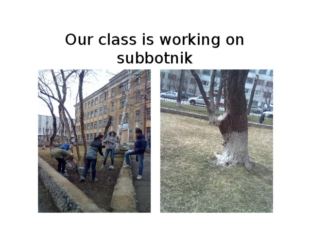 Our class is working on subbotnik