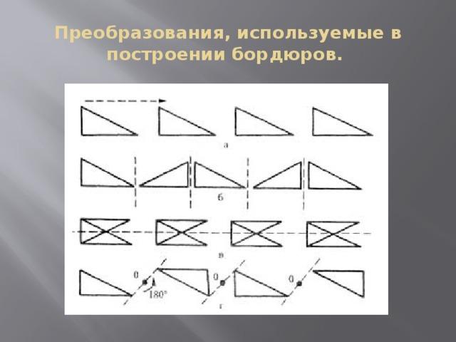 Преобразования, используемые в построении бордюров.