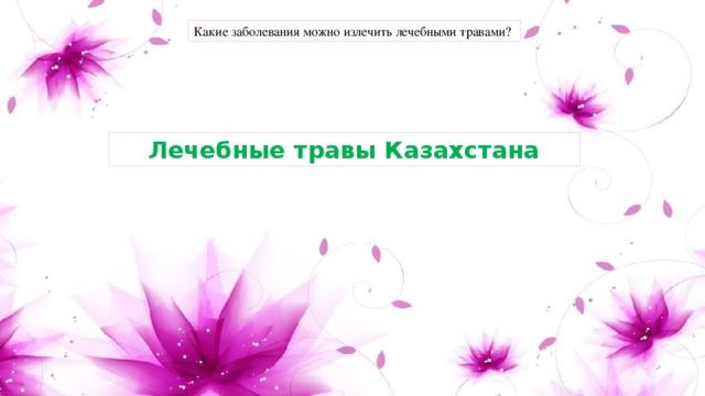 Какие заболевания можно излечить лечебными травами? Лечебные травы Казахстана