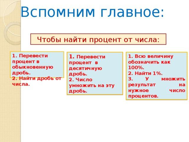 Решить задачи процент от числа реши и сравни задачи