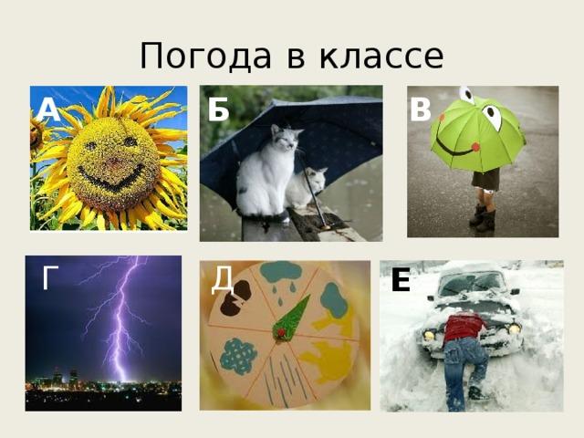 Погода в классе А Б В Д Г Е