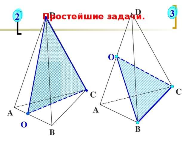 D 3 D 2 Простейшие задачи. О С С А А О В В